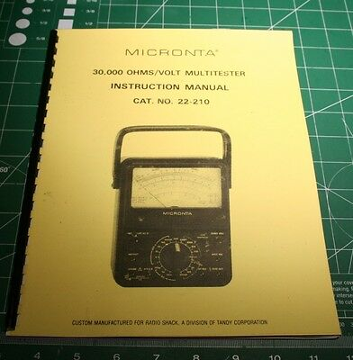 micronta 4001 discriminator detector manual