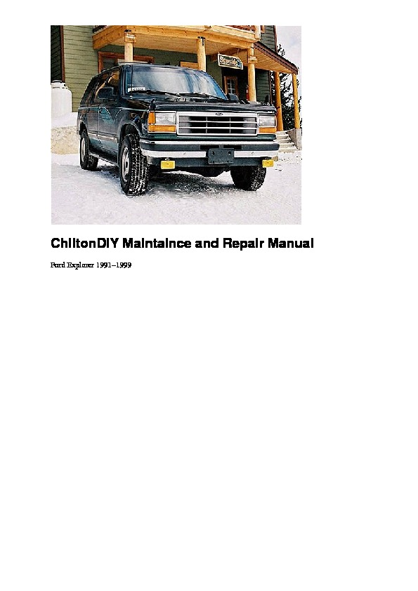 1991 ford f150 repair manual pdf