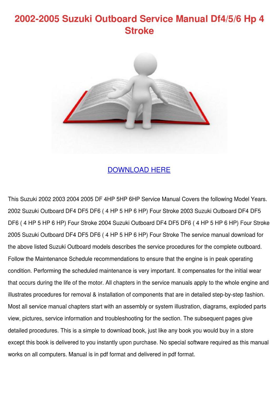 suzuki outboard repair manual pdf