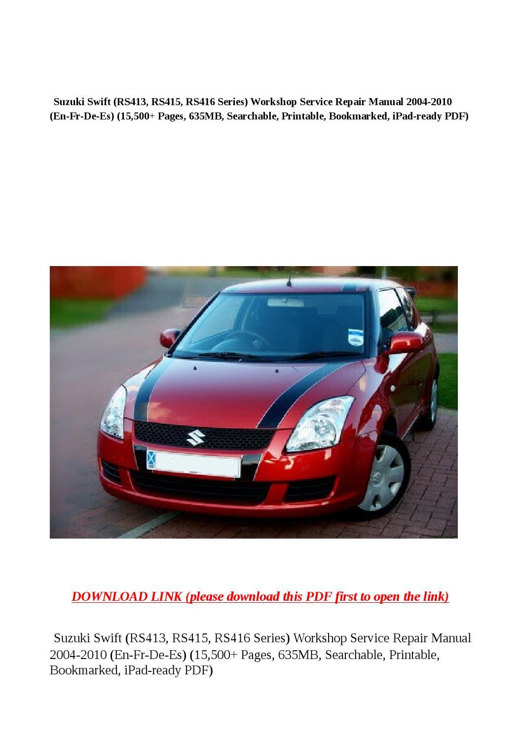 2010 suzuki swift re4 manual