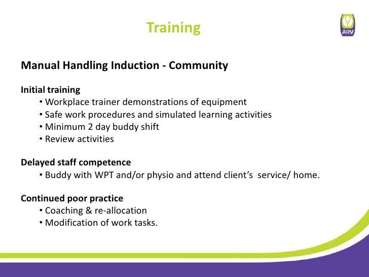 aged care manual handling equipment