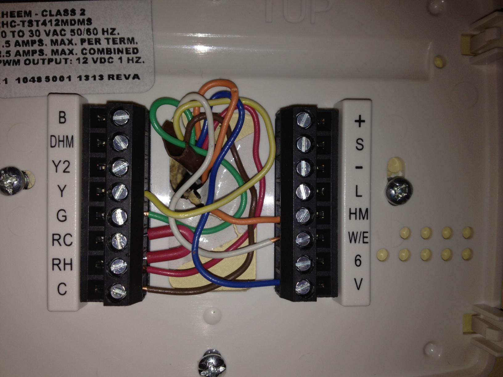 rheem contour comfort control thermostat manual