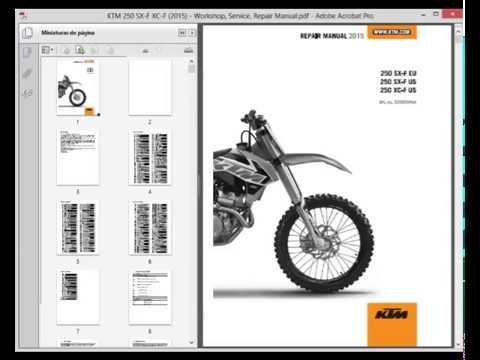 2009 ktm 250sxf service manual