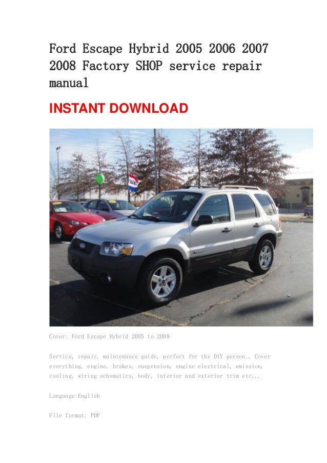 2003 ford escape repair manual free download