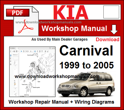 2004 kia carnival workshop manual
