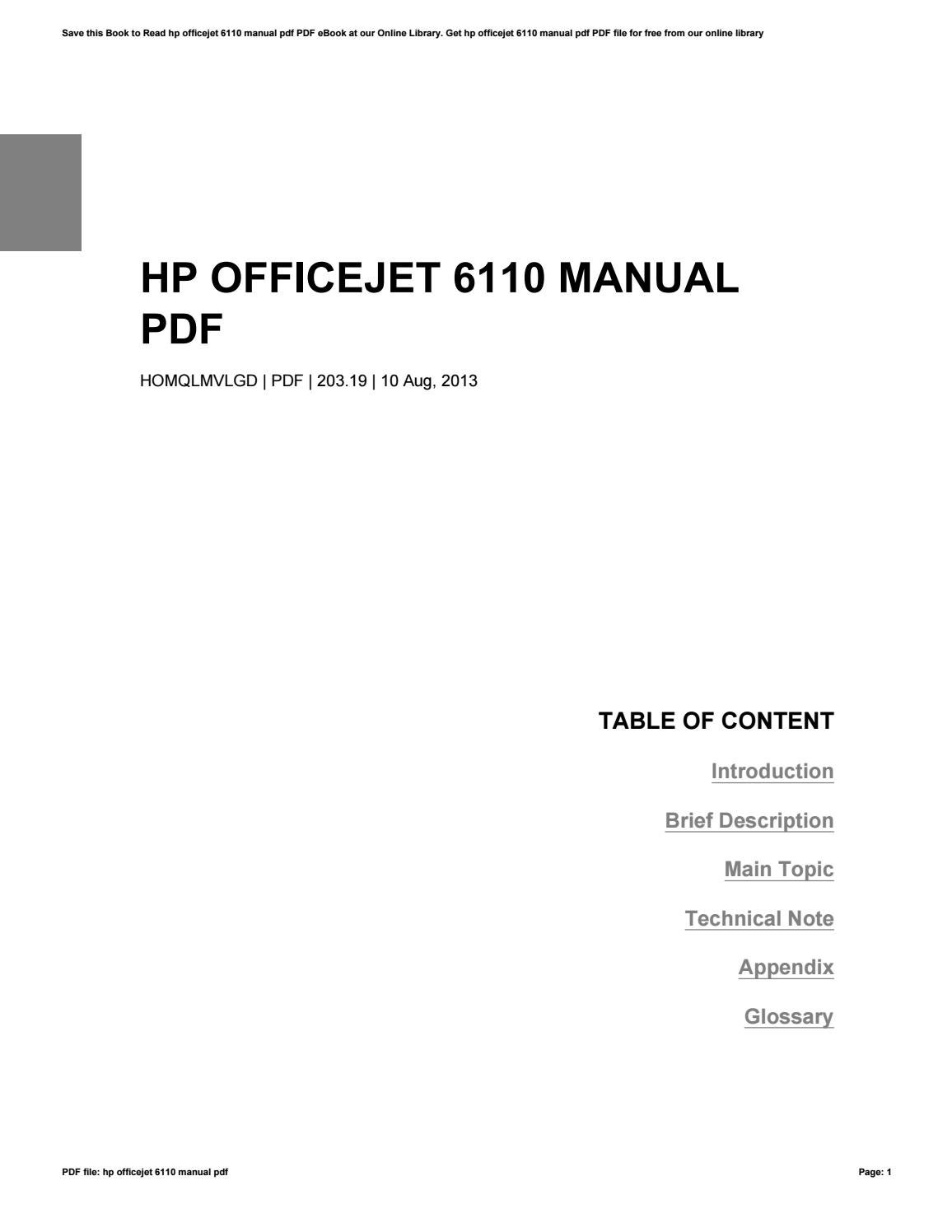 hp officejet pro k8600 manual pdf