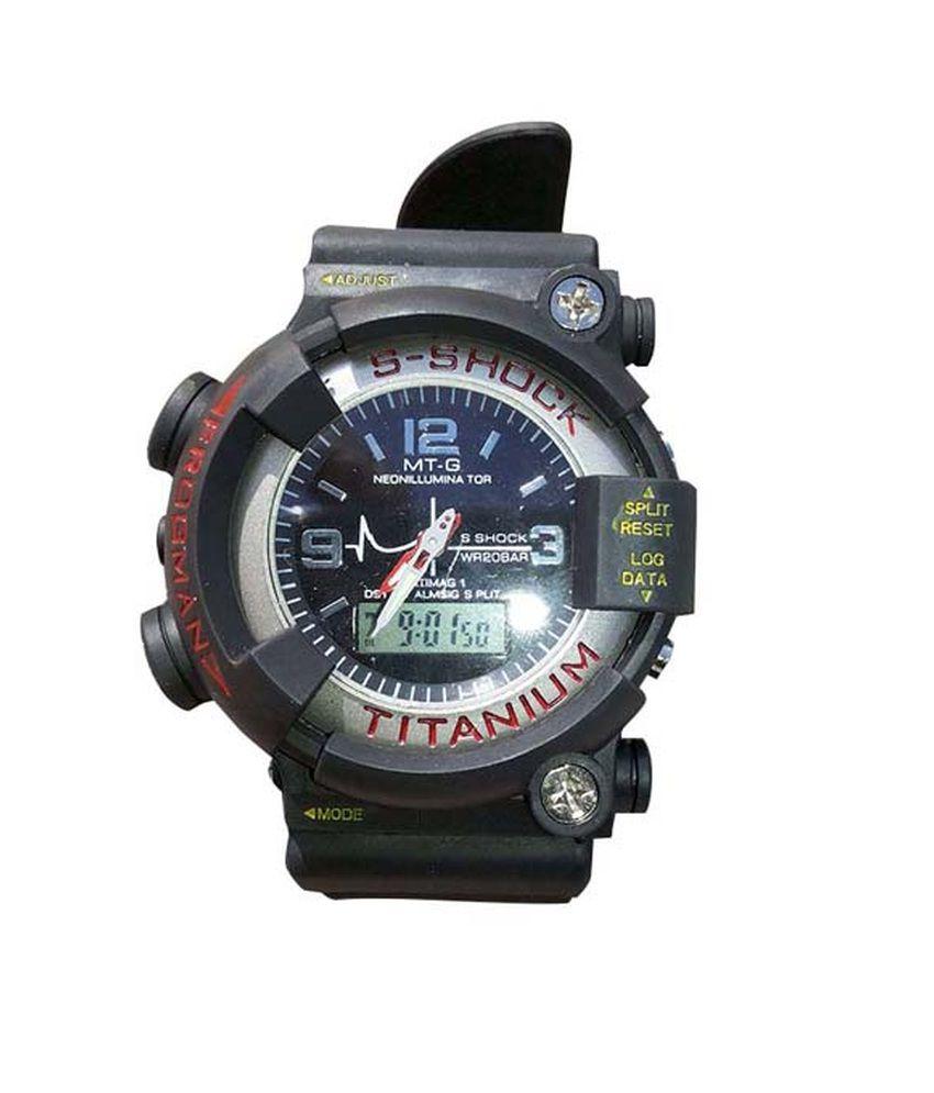 s shock titanium watch manual