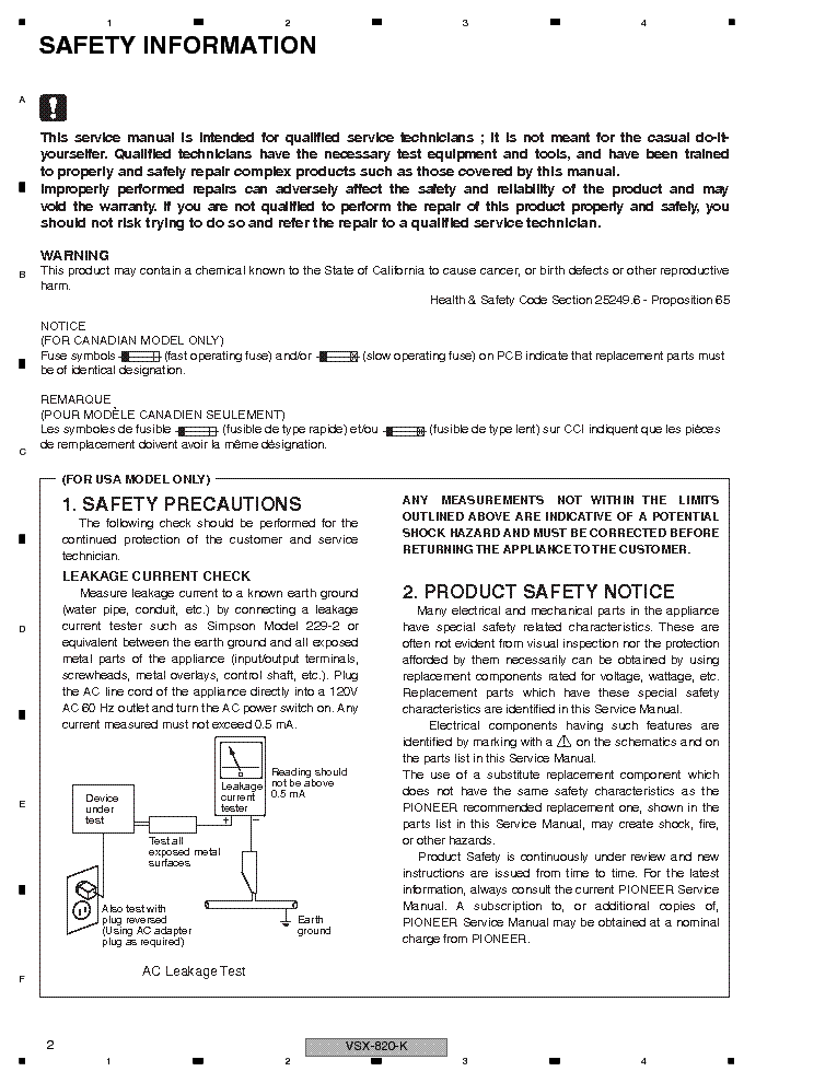 pioneer vsx 520 k manual