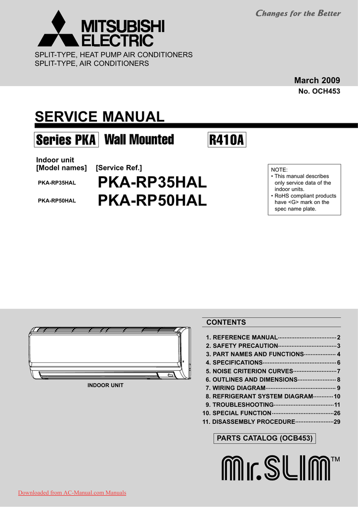 mitsubishi air conditioning unit remote control manual