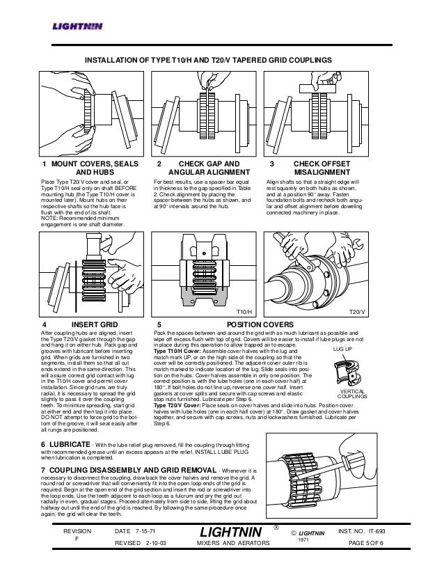 lightnin mixer series 10 maintenance manual