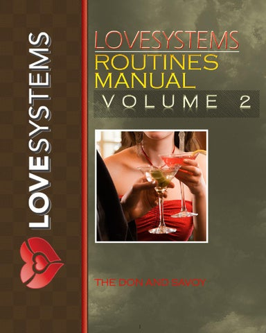 love systems routines manual volume 2 pdf
