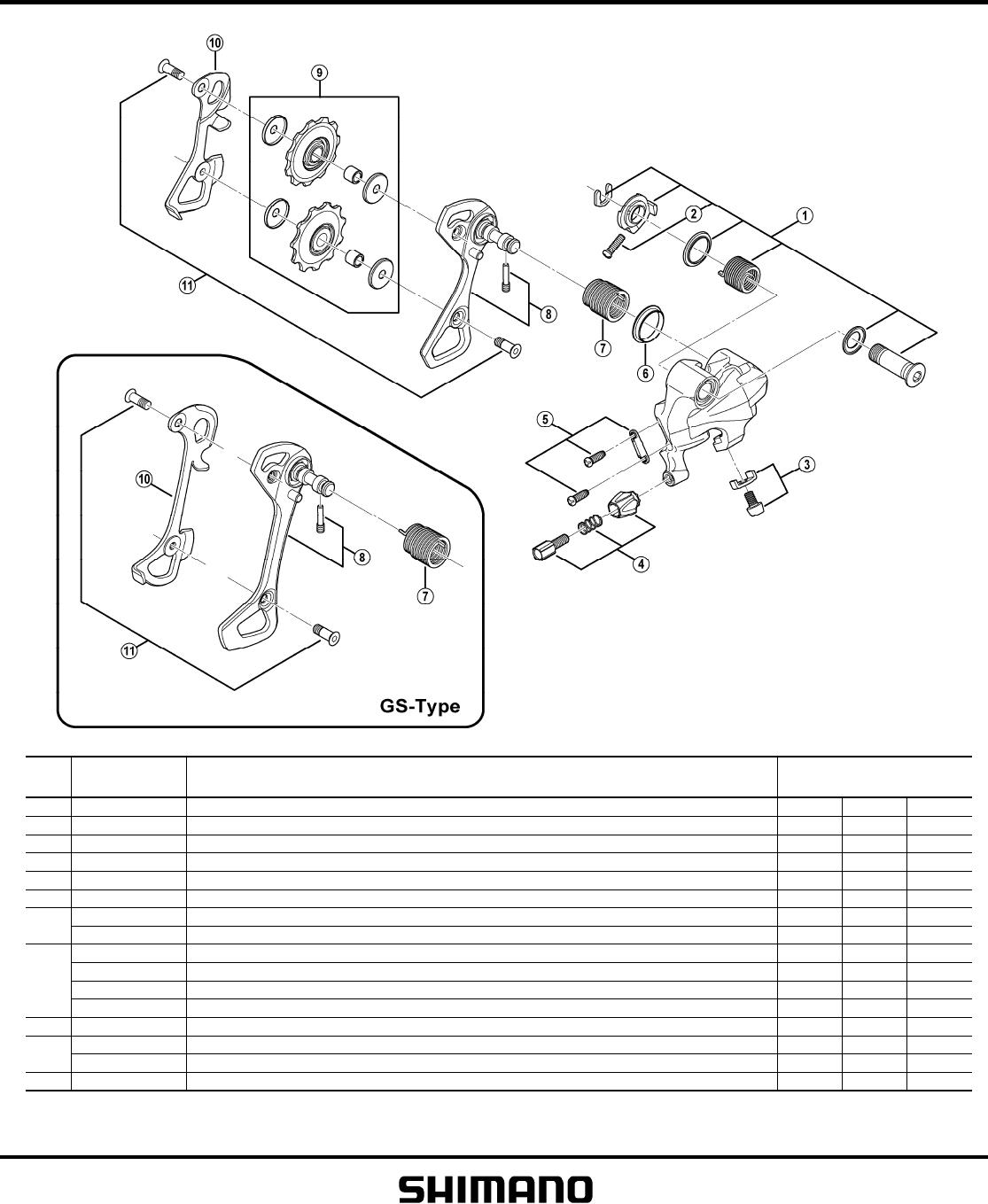 shimano altus rear derailleur manual