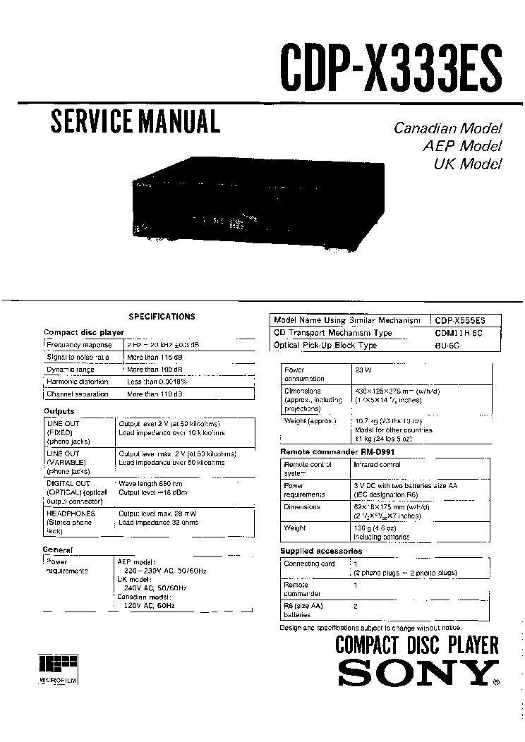 sony cdp ce500 user manual