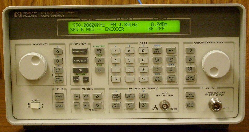 hp 8656b signal generator manual