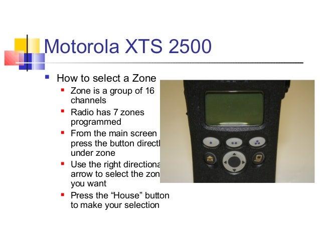 motorola xts 2500 model 2 manual