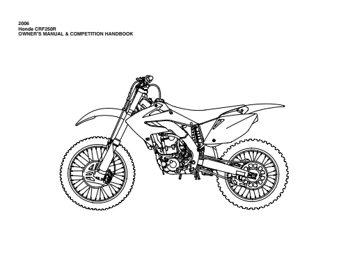 2005 honda crf450r service manual free download