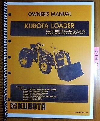kubota l185 operators manual pdf