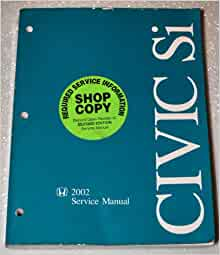 honda civic 2002 service manual free download