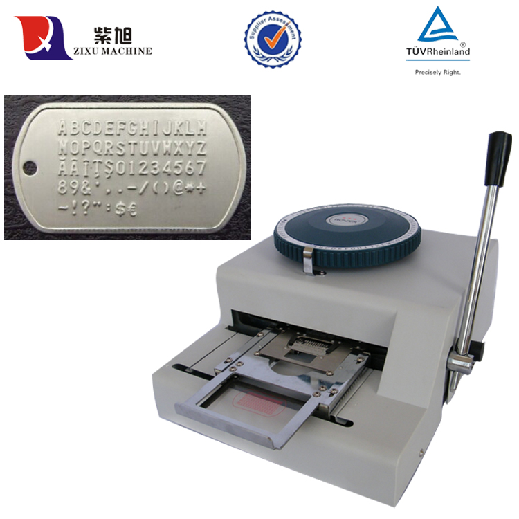 manual metal tag embossing machine