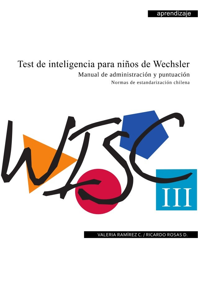 wisc iv administration and scoring manual pdf