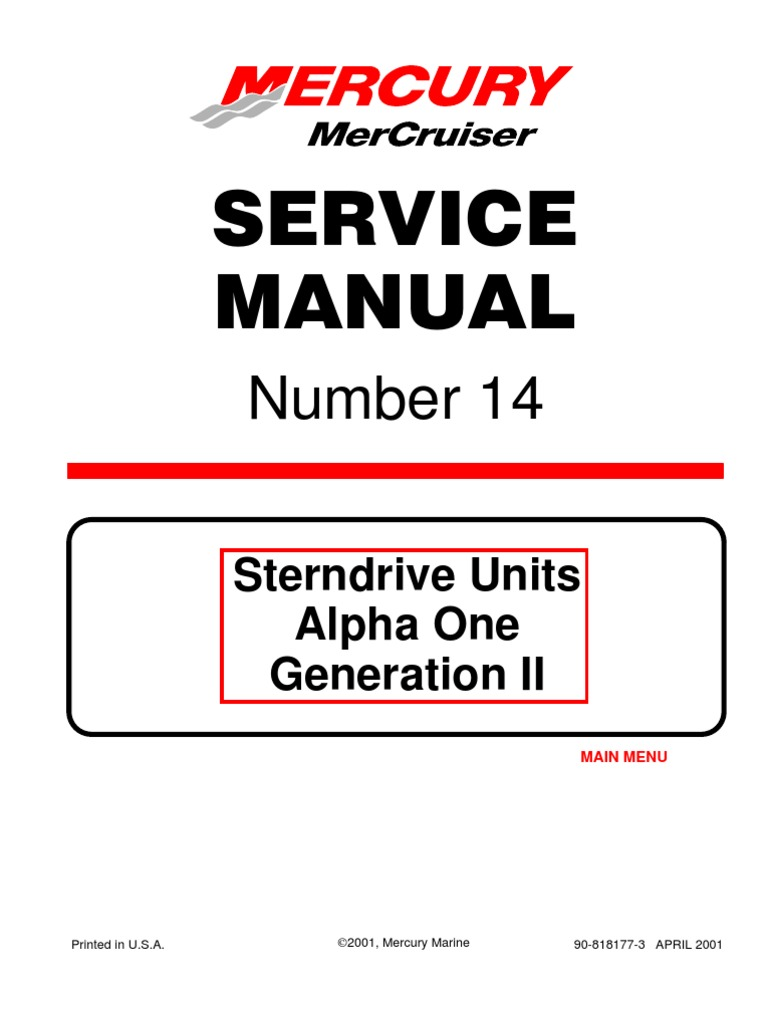 mercruiser service manual 6 download