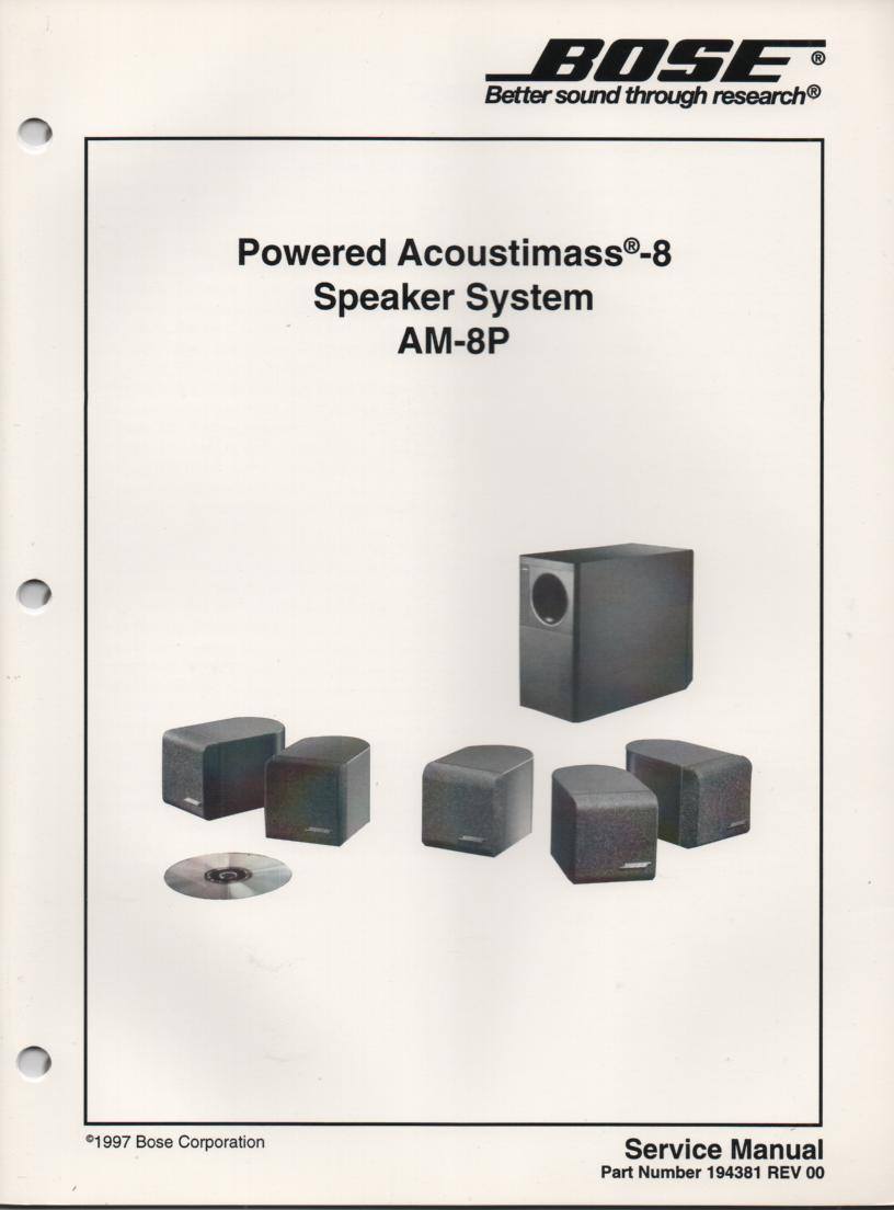 bose acoustimass 6 series iii manual