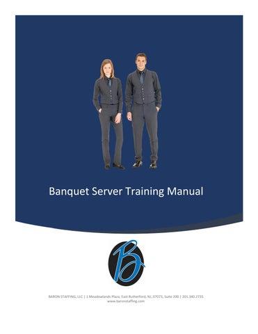 banquet set up training manual