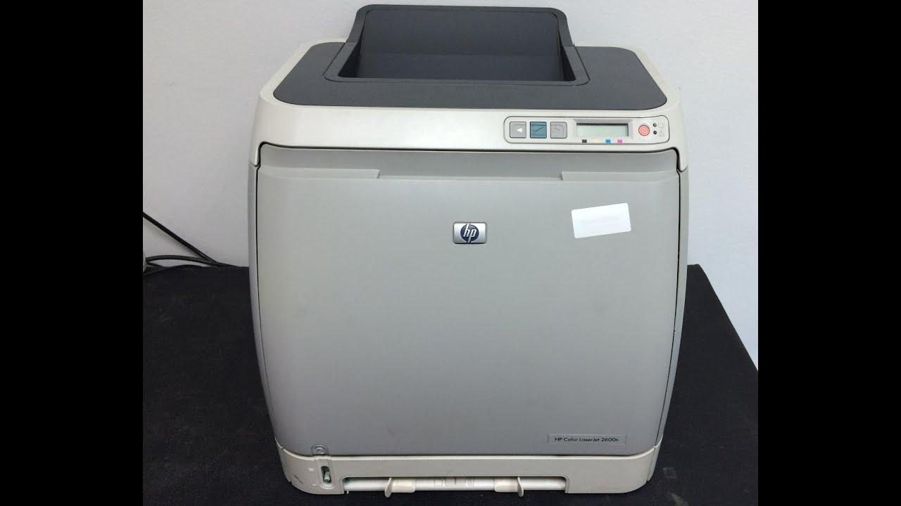 hp color laserjet 2600n manual