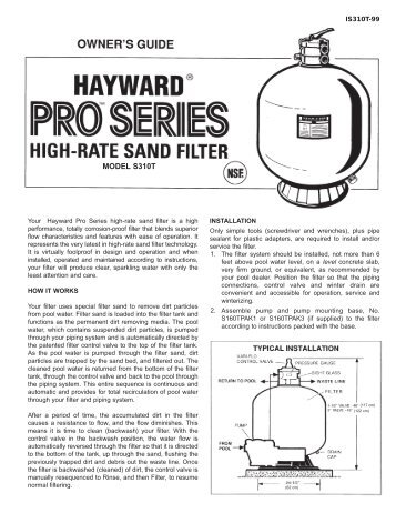 hayward pool pump repair manuals