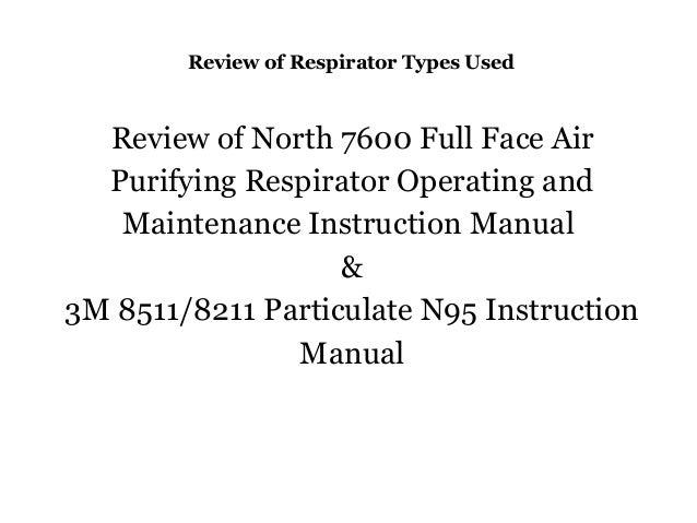 north 7600 full face respirator manual