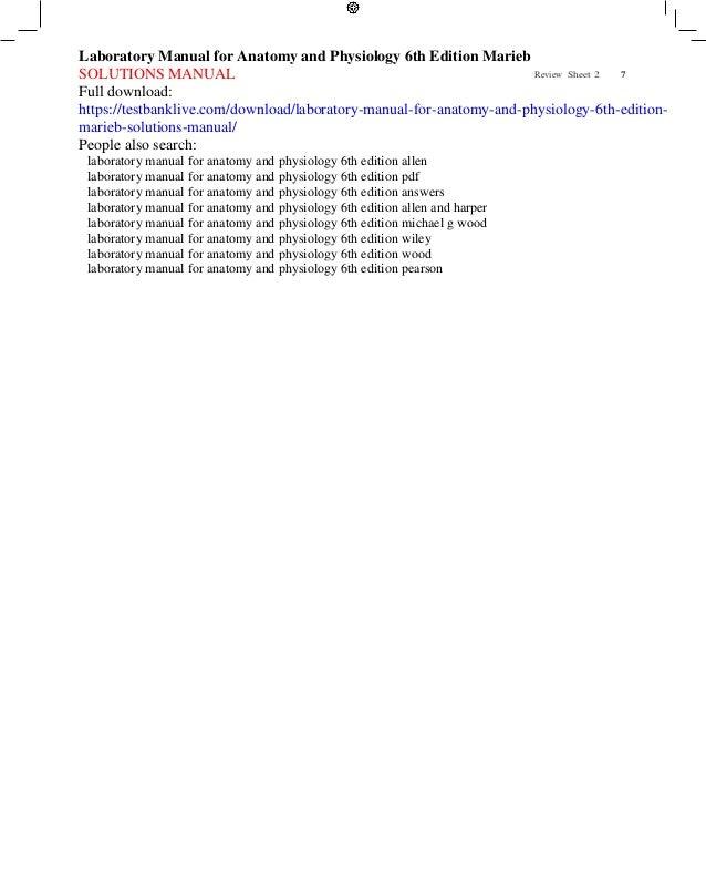 anatomy and physiology lab manual marieb pdf