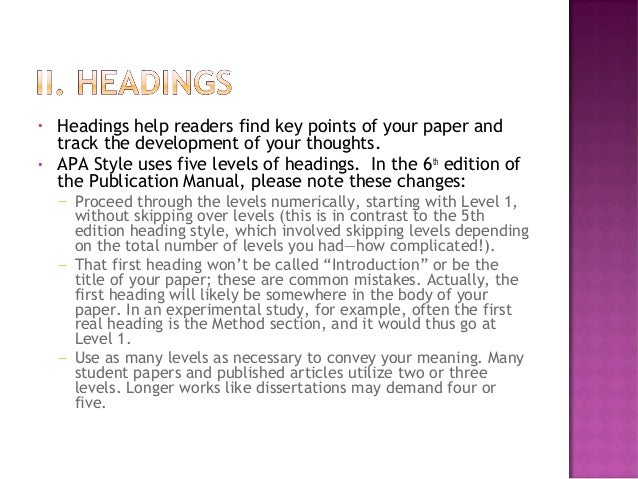apa publication manual 6th edition