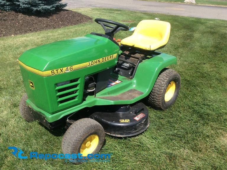 john deere stx46 owners manual