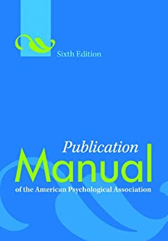 publication manual of the american psychological association sixth edition ebook