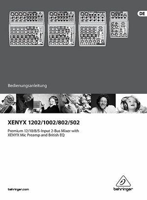 behringer xenyx 802 mixer manual