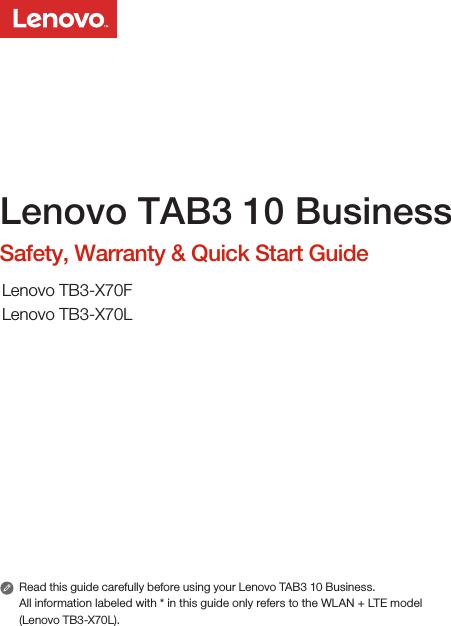 lenovo tab3 10 business manual