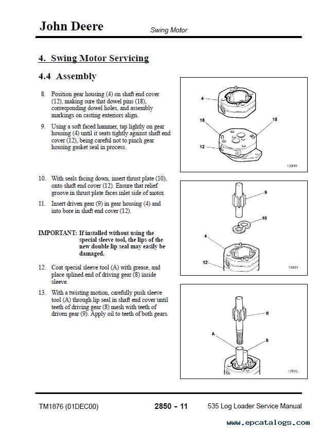 john deere 2850 workshop manual