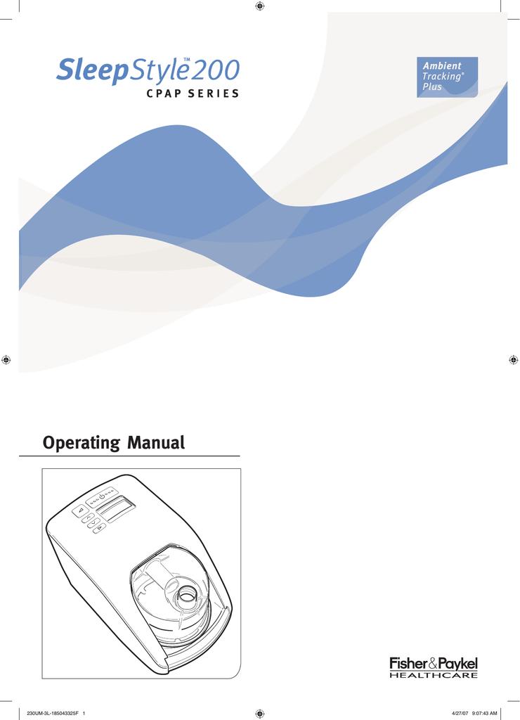 fisher paykel sleepstyle 200 manual