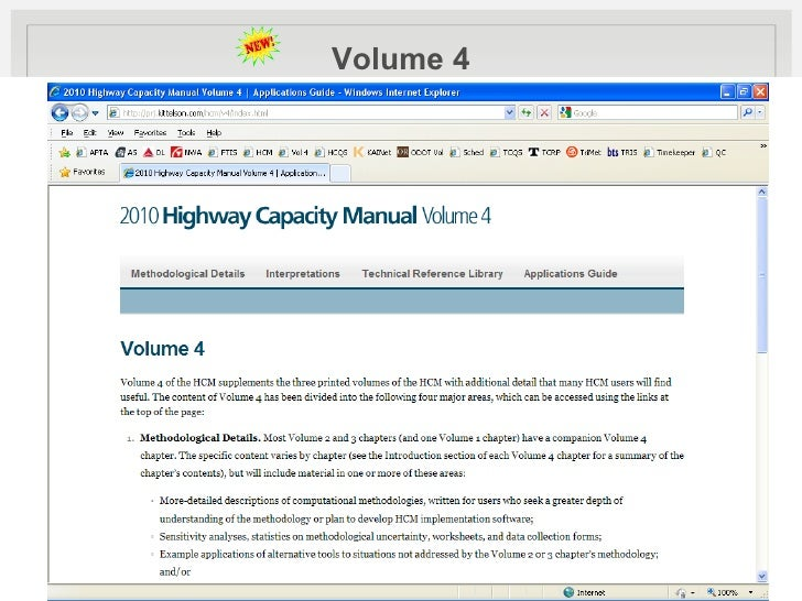 highway capacity manual 2010 for sale