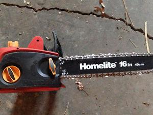 homelite 14 inch electric chainsaw manual