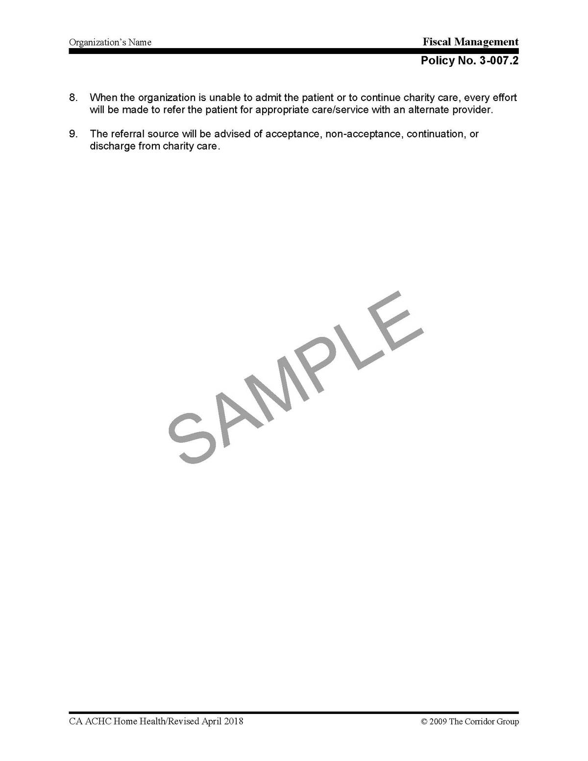 hospice policy and procedure manual