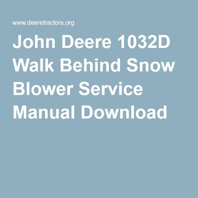 john deere 1023e service manual
