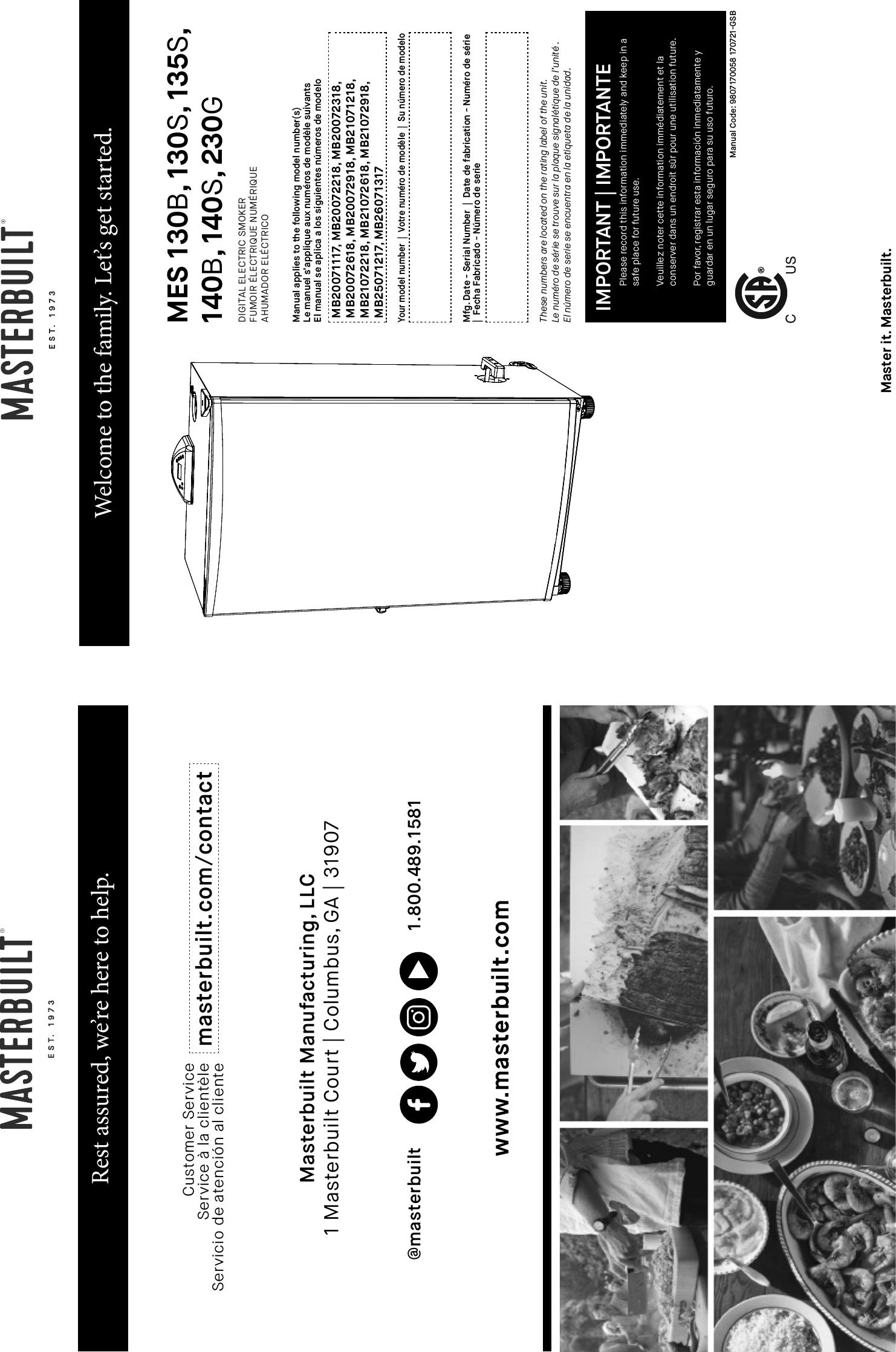 masterbuilt 40 electric smoker manual