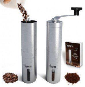 orvite ceramic burr manual coffee grinder