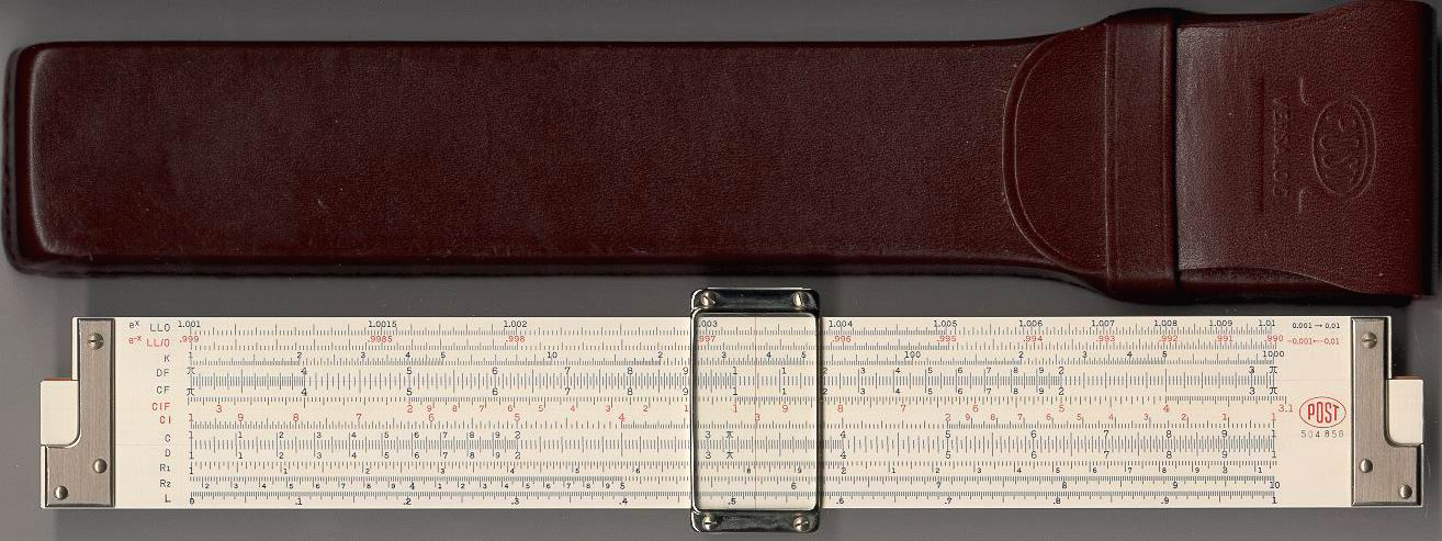 post versalog 1460 slide rule manual