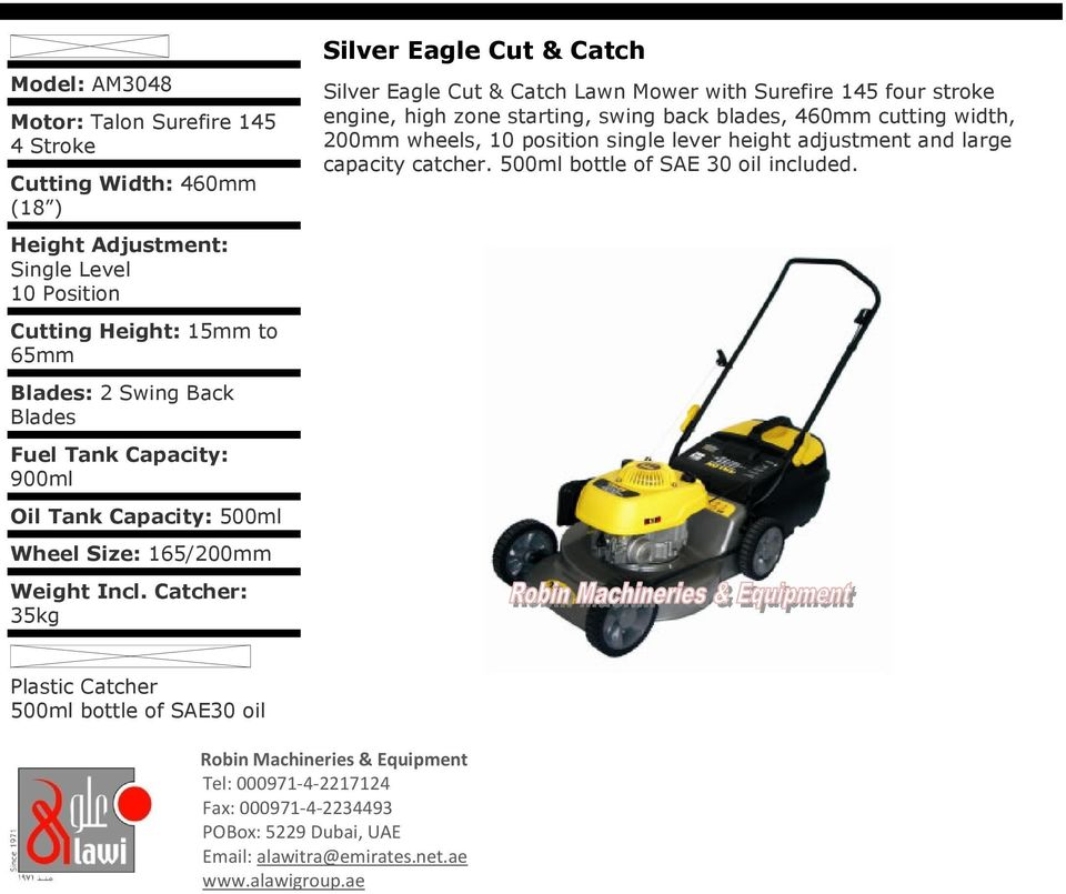 talon surefire 145 lawn mower manual