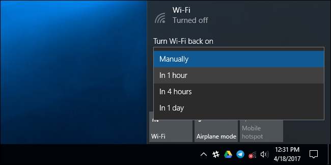 turn wifi back on manually